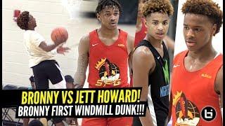 Bronny James vs NBA All-Star Juwan Howard's Son CRAZY 2OT GAME!! Bronny 1ST WINDMILL DUNK!!