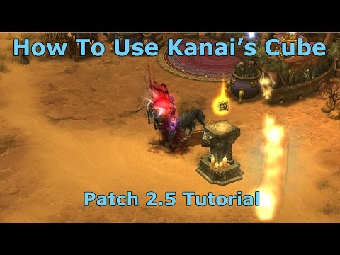 [Diablo 3] How To Use Kanai's Cube - Augmenting & New Crafting Materials Tab | Patch 2.5 Tutorial