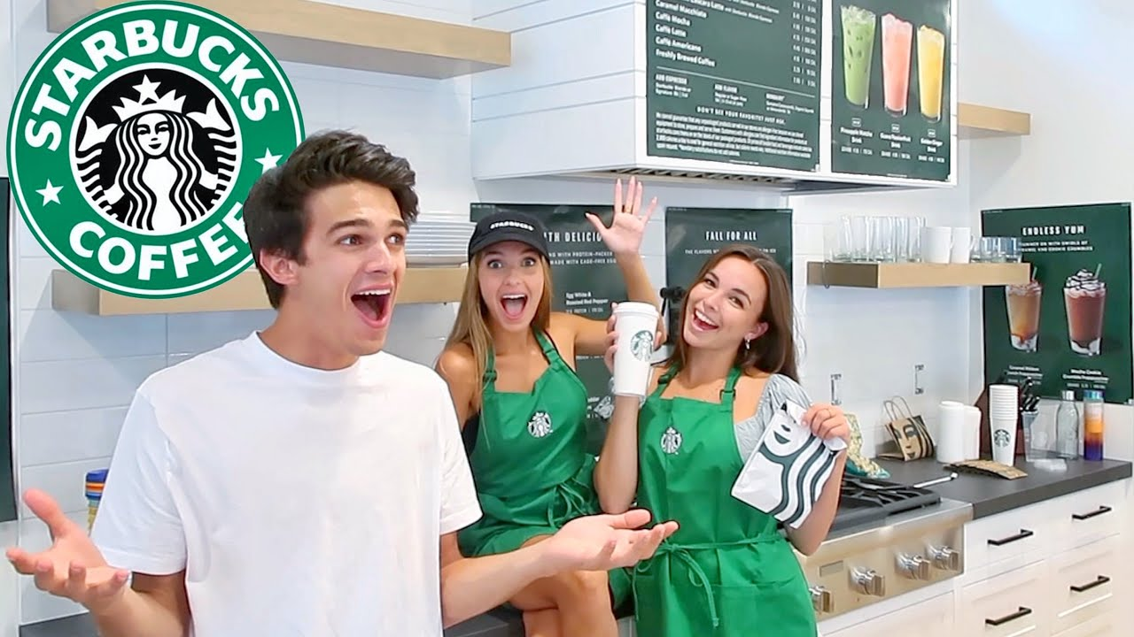 WE OPEN A STARBUCKS IN BRENT'S NEW HOUSE!!