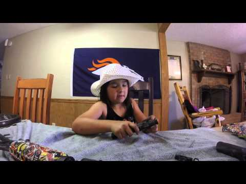 8 year old takes apart AR