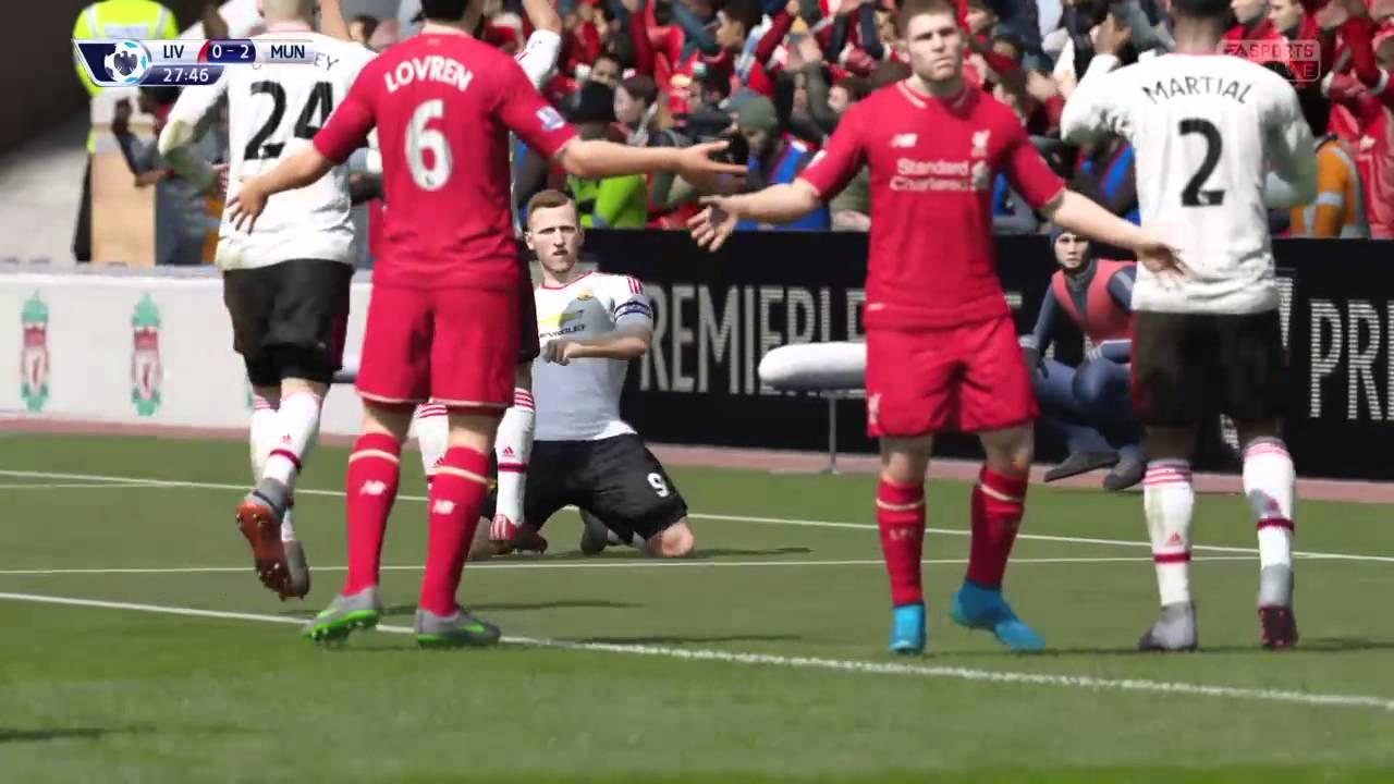 直播PlayStation4 FIFA16 英超聯賽:利物浦 vs 曼聯
