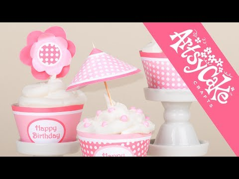 MAKE DECORATIONS FOR CAKES & CUPCAKES—3D BENT PETAL FLOWERS