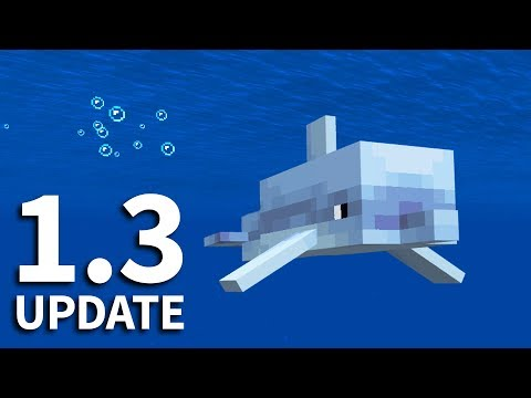 🐬 Minecraft 1.3 Update: DOLPHINS, SEA PICKLES and MORE! MCPE / Minecraft PE Beta 1.3 Update