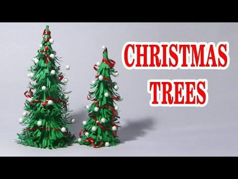 How to make Christmas tree by paper, Christmas Ideas, Xmas tree by paper, Christmas Crafts, DIY Xmas