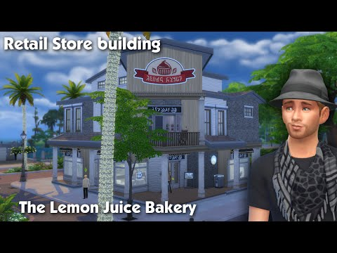 The Sims 4: House Building - The Lemon Juice Bakery (Retail Store)