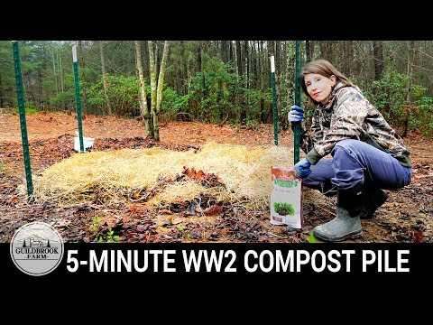 Composting 101: Build a Quick WWII Compost Pile For Your Garden