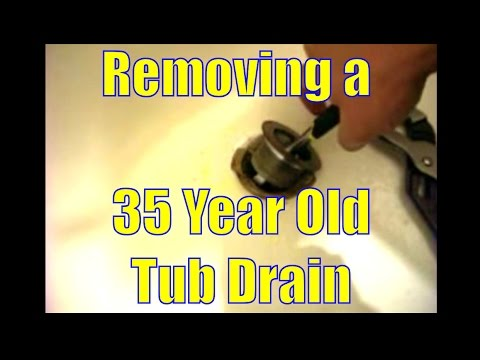REMOVING A 35 YEAR OLD TUB DRAIN