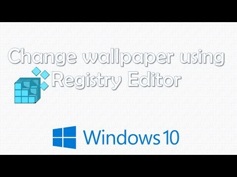 Change Wallpaper using Registry Editor