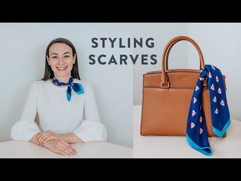 MY FAVORITE WAYS TO ACCESSORIZE WITH SCARVES // SILK SCARF TUTORIAL