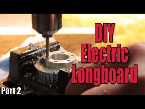Make your own Electric Motorized Longboard (Part 2) - the mechanical build