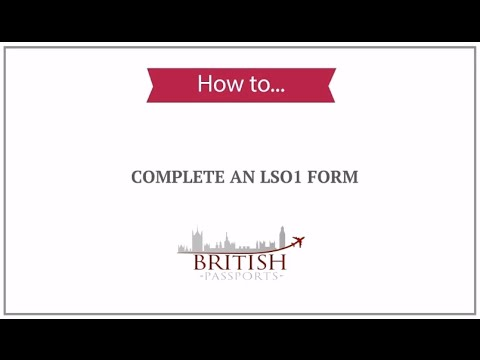 How to Complete an LS01 Form