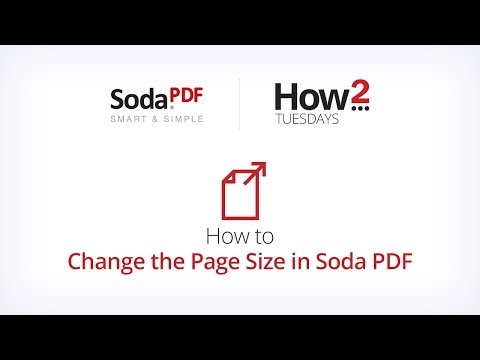 How to Change the Page Size in Soda PDF