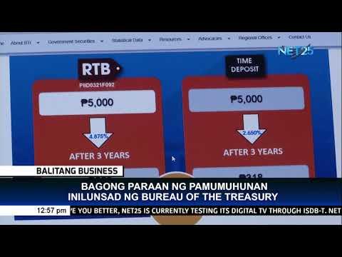 Bagong paraan ng pamumuhunan inilunsad ng Bureau of Treasury