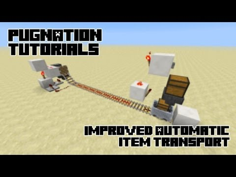 Using Hoppers, Redstone Comparators and minecarts for transport (13w04a UPGRADE!): Minecraft How to!