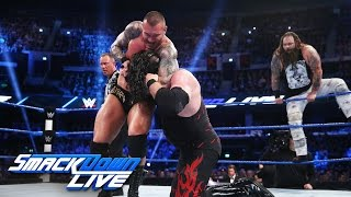 Dean Ambrose, Kane & James Ellsworth vs. The Wyatt Family: SmackDown LIVE, Nov. 8, 2016