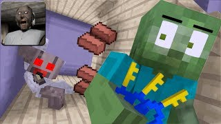 GRANNY HORROR GAME CHALLENGE PART 2 - Minecraft Animation