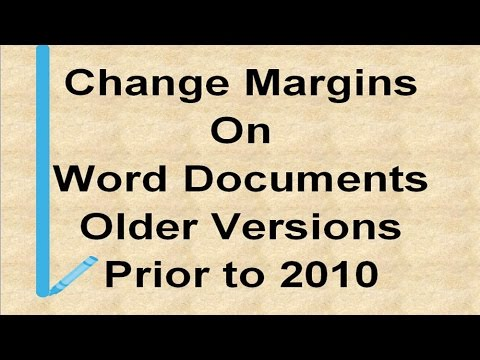 Change Margins in Older Versions of Microsoft Word 2003 & Back