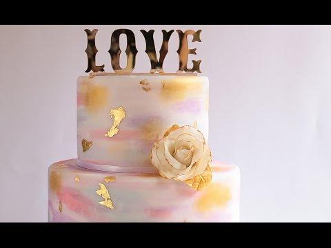 Watercolour Cake Tutotial- Rosie's Dessert Spot