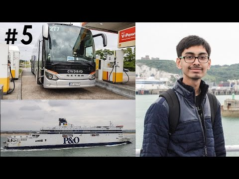 #5. India To Europe Trip - Day 2| London To Paris| P&O Ferry| Camponile Hote|UK To France|#RCTravels