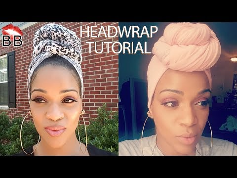 Easy DIY Headwrap Tutorial Using T-Shirts and Leggings | How To Style A Headwrap | FOR THE CULTURE!