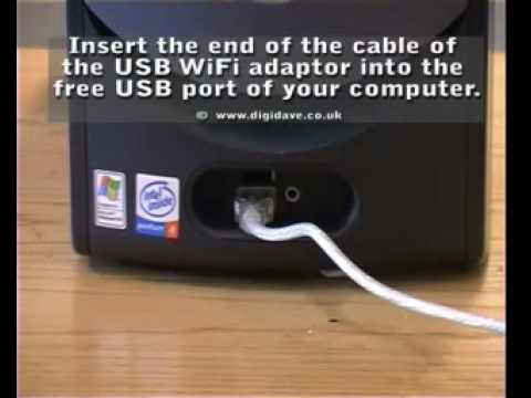 Connecting and installing a USB WiFi adaptor Windows XP