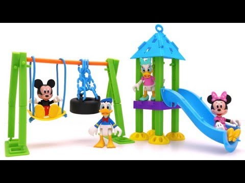 Making Playground for Mickey Mouse Clubhouse Fun Play Kinder Surprise Eggs Rainbow Learning