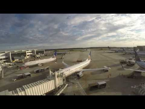Timelapse 4k - Houston George Bush Intercontinental Airport (IAH)
