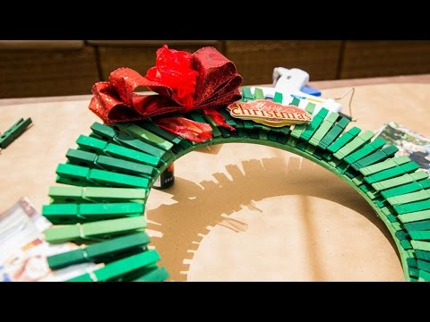 How to Make a Clothespin Wreath
