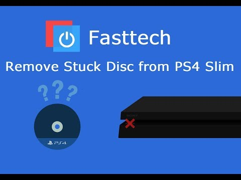How to manually remove a game disc from a PS4 Slim