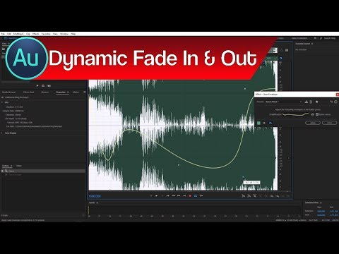 How to Fade Audio in Audition – Fade & Gain Envelope | Using Adobe Audition Tutorial