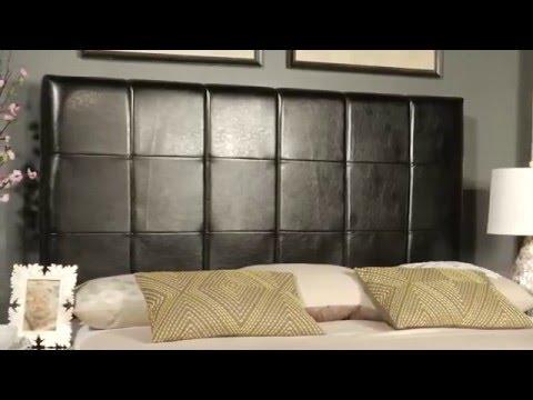 Safavieh Quincy Black Leather Headboard