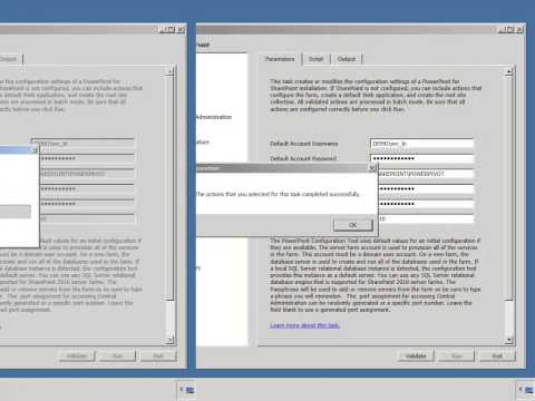 SharePoint 2010 BI POC VM #5 - PowerPivot Config Wizard