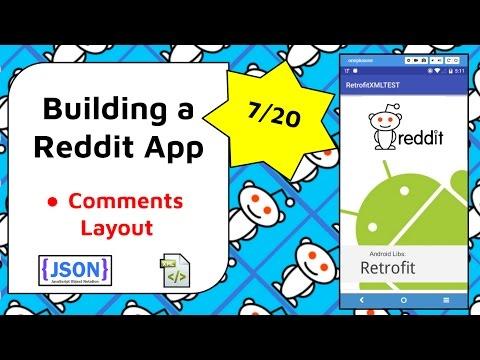 Reddit Comments Layout [Build a Reddit App Part 7]