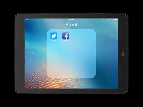 How to create a folder on the iPad