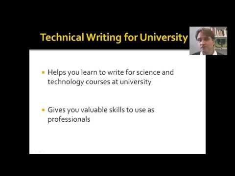 Introduction to Technical Writing for University