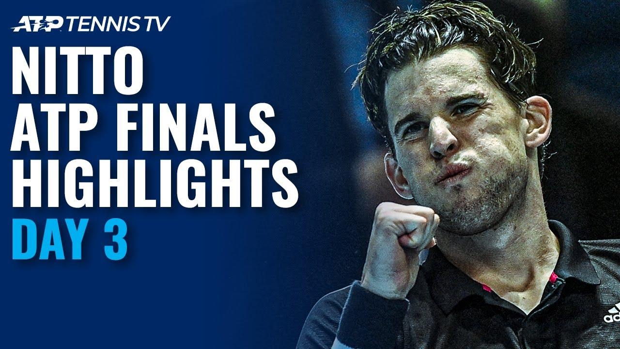 Nadal v Thiem BLOCKBUSTER; Tsitsipas v Rublev   Nitto ATP Finals 2020 Highlights Day 3