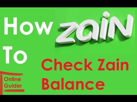 How to Check Zain Remaining  Balance
