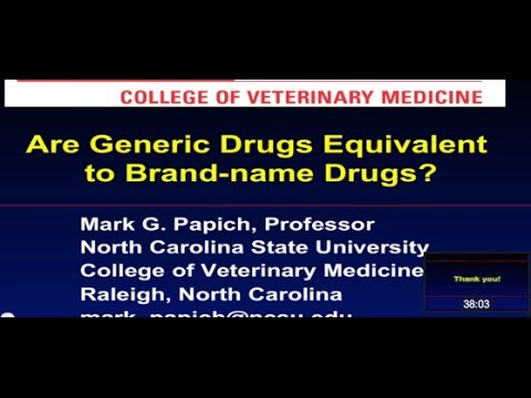 Are Generic Drugs Equivalent to Brand-Name Drugs?