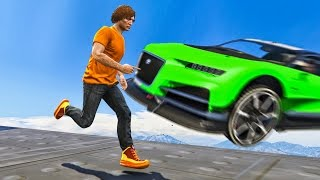 1 INCH AWAY FROM DEATH! (GTA 5 Funny Moments)