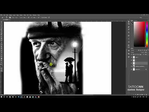 How to use photoshop for tattoo design - TATTOONN