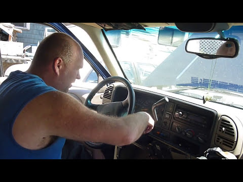 REMOVING GMC  STEERING WHEEL,LOCK PLATE ,LOCK CYLINDER, AND PLASTICS