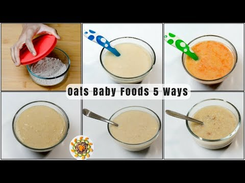 Oats Baby Food Recipe 5 ways | Baby Food with Oats for 10+ Months baby | Oats Lunch Ideas For Babies