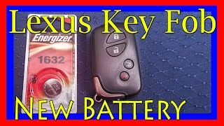 How To Replace Lexus Key Fob Battery U2013 GS350, GS460, GS300, LS460, ES350,  IS250, IS350, RX350, LX570