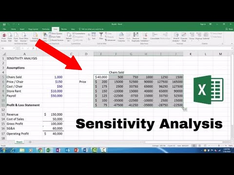 Sensitivity Analysis - Microsoft Excel 2016