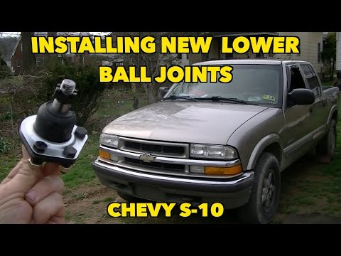 Chevy S-10 Lower Ball Joint Replacement...... With Factory Rivets ...UGH!!!!