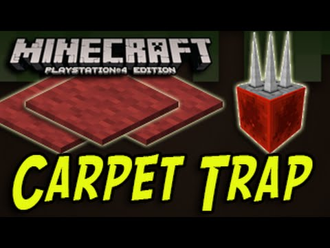Minecraft (PS4, PS3, Wii U) - How To Make a Carpet Trap