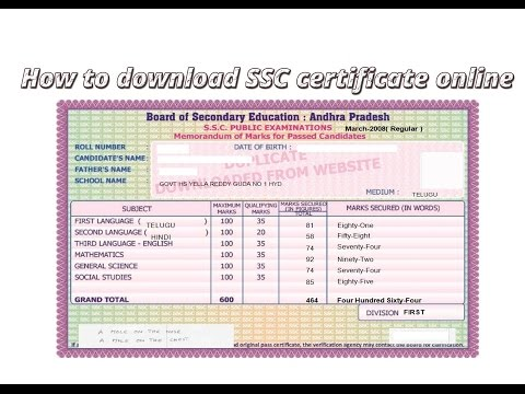 How to download the SSC certificate online