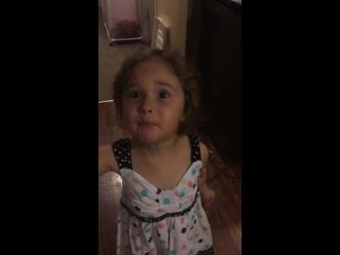 Little girl cuts own hair