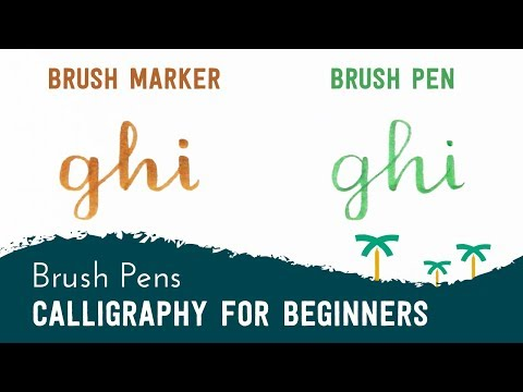 Brush Pen Calligraphy for Beginners - 'GHI' Brush Lettering | Stationery Island