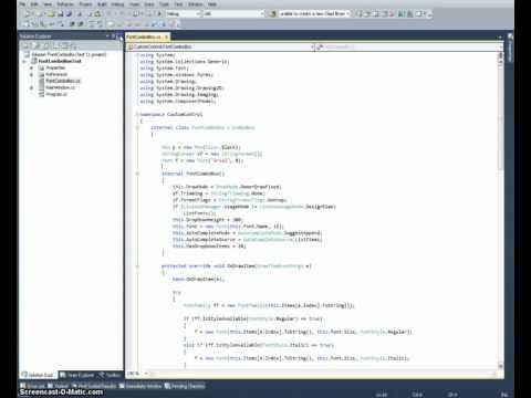 Crear un componente (control) Font ComboBox personalizado